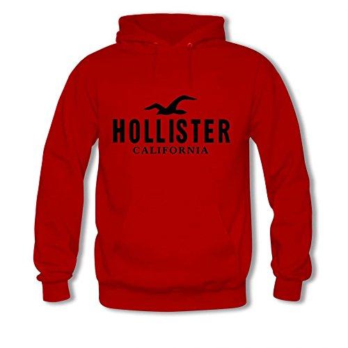 Hollister California Black Logo Printed For Boys Girls Hoodies