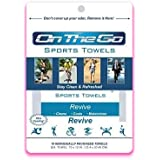 10 On The Go Towels Revive Large Sports Wipes by On The Go Towels