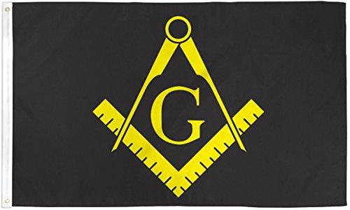 Masonic Black Flag Freemasonry Banner Mason Lodge Pennant 3x5 Indoor Outdoor New