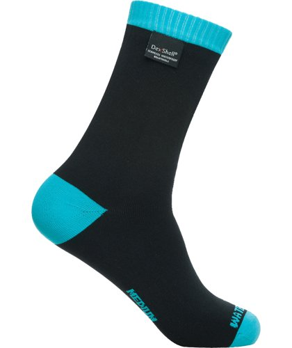 Dexshell Coolvent Lite Waterproof Socks, Aqua Blue, Small