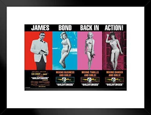 Pyramid America James Bond Back in Action Matted Framed Poster 20×26 inch