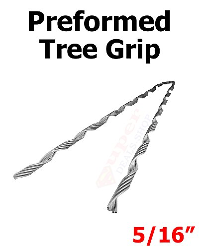 1 Pcs 5/16 Galvanized Steel Preformed Tree Grip/Dead End Heavy Duty Super-Deals-Shop Choose Size In Listing Super-Deals-Shop by S-D-S Replacement