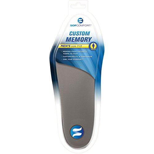SOFCOMFORT CUSTOM MEMORY Shoe Inserts — 1 Pair, Men's Sizes 7-13 ()