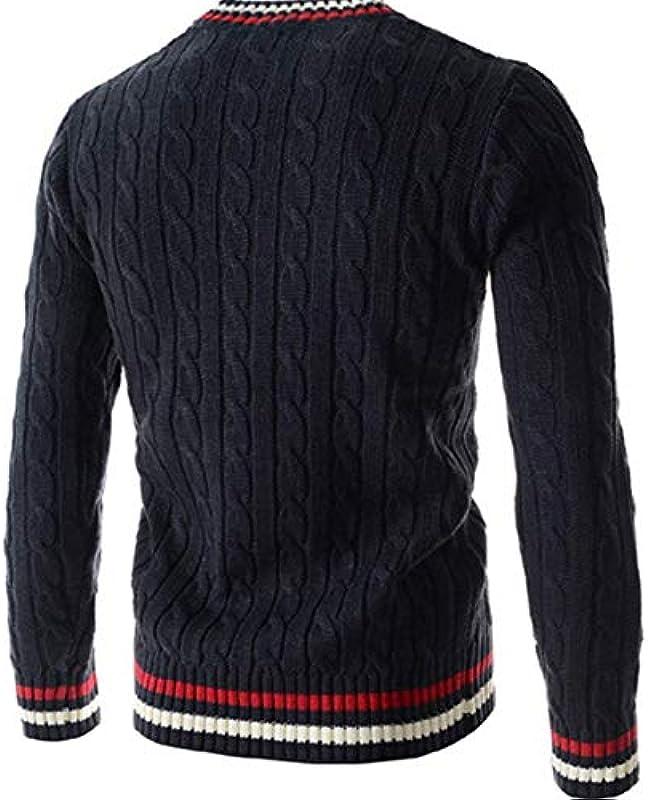 Adelina męski sweter z dekoltem w kształcie litery V, sweter z dzianiny, Slim: Odzież