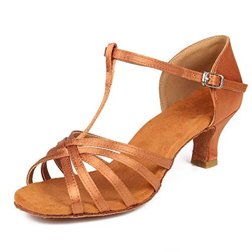 5cm de Baile Modelo Marrón 403 Tacón Baile WH de Zapatos estándar Mujer de Zapatos SWDZM Ballroom Latino qfSwtZfx