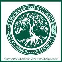 Green Tree of Life Earths Bounty Sticker