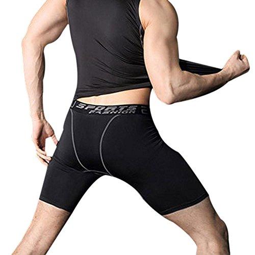 Bluestercool Männer Basketball Hosen Lauftraining Hälfte schnelltrocknende Hose Hose (M)