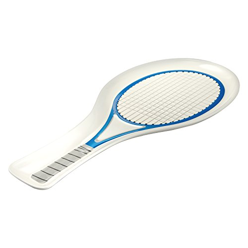 Gourmet Art Tennis Racket Melamine 21-inch Platter, Blue