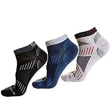 West Biking 3 Pairs Mens Low Cut Sports Sock CoolMAX Cycling Ankle Sock
