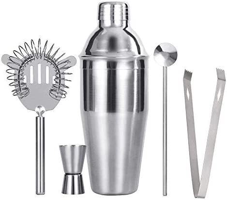 GUTSBOX Cocktail Shaker 550ml Premium Edelstahl Bar Cocktailshaker Boston Cocktail Mixer Zubehör Martinishaker für Professioneller Barkeeper, Premium Barkeeper Cocktailshaker Set