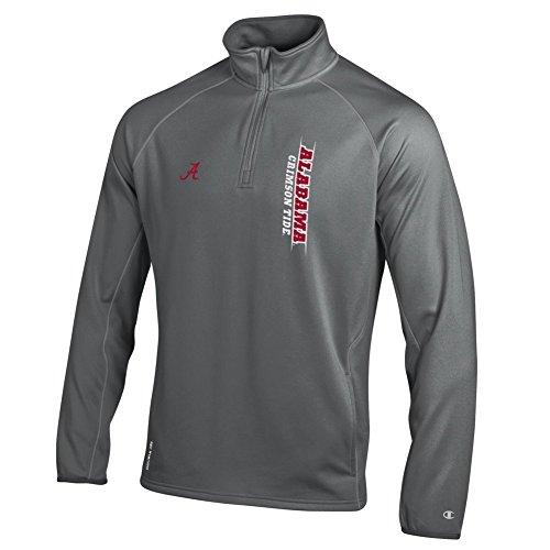 Alabama Crimson Tide Quarter Zip Sweatshirt Titanium - L