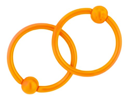 Set Surgical Steel Orange Rings product image