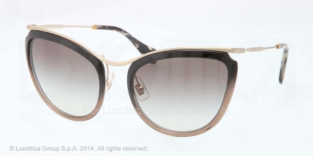 Gafas de Sol MIU MIU MU 51PS NOIR BLACK GRADIENT BROWN ...