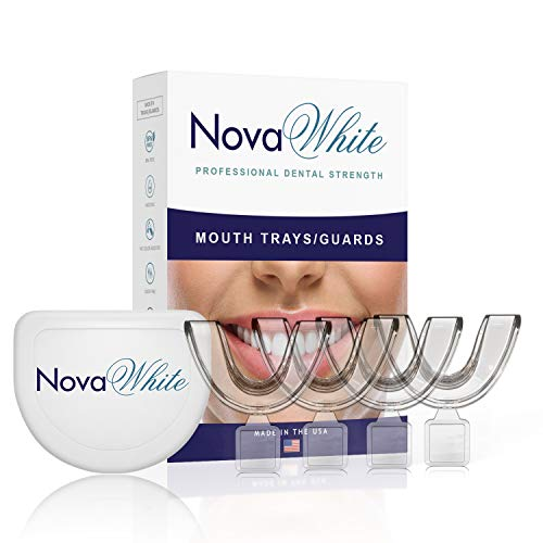 Teeth Whitening Trays, Moldable, Custom Fit, Comfortable, BPA Free, Latex & Odor Free, (4) Mouth Trays, Hygienic Storage Case - Easy to Mold Mouthguard, Dental Grade Mouth Tray, Durable Tooth Guard