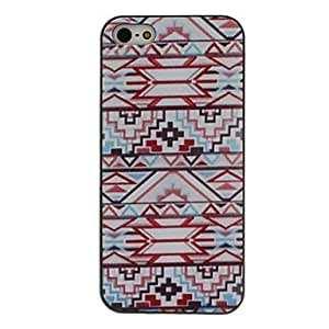JOE Rectilinear Figure Coloured Drawing Pattern Black Frame PC Hard Case for iPhone 5/5S
