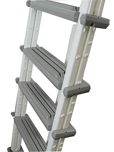 Eight24hours heavy duty above ground swimming pool ladder 48 54 inches gray 6000b sporting for Heavy duty swimming pool ladders