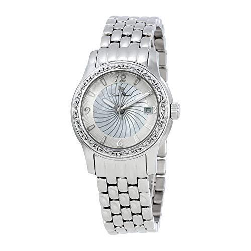 Lucien Piccard Women's 'Merrel' Quartz Stainless Steel  Watch, Color:Silver-Toned (Model: LP-40029-22-MOP)
