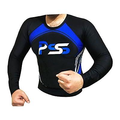 Prime Sports Rash Guard for Men Long Sleeve Rash Guards Shirt bodysurfing bodyboarding windsurfing kitesurfing and MMA BJJ Grappling and other activties