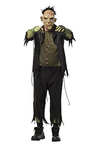 Sponch Costumes (Sponch Frank'n Staples Frankenstein Adult Halloween Costume, Medium)