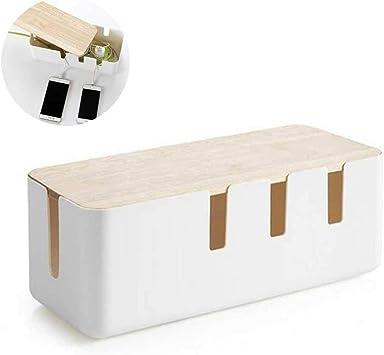 Volwco Caja Organizadora Cables Grande y Blanca, Caja para Cables, Organizador para Cables, Caja para Esconder Cables con la Mejor Calidad y Durabilidad, Caja de Almacenamiento de Alambre: Amazon.es: Bricolaje y herramientas