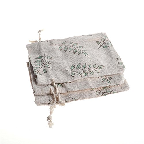 d5c6ebd56366 PER-HOME Small Cotton Muslin Double Drawstring Bag-Jute Cloth Sack ...