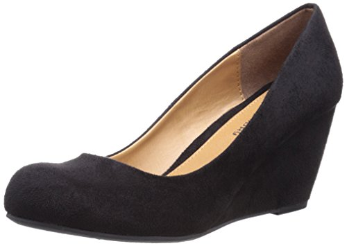 CL by Chinese Laundry Womens Nima Wedge Pump Black Super Suede 6OrFt