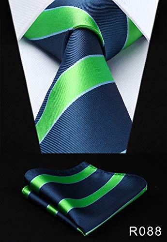 Tie Men Tie Necktie Pocket Square Classic Party Wedding Fashion Striped Polka Dot 3.4