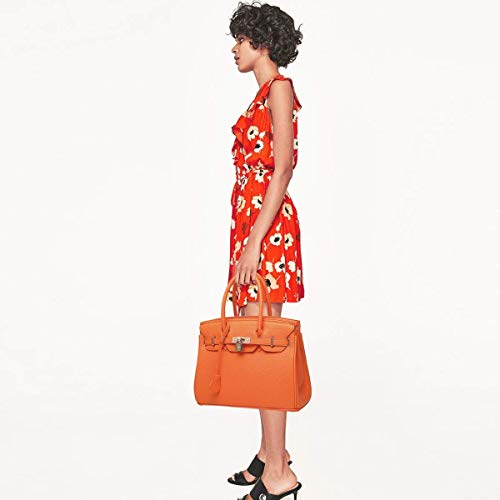 Sac Sacoche Cuir Femmes Fourre À Bandoulière Main À Dames Orange Pour Top PU Bandoulière Sacs tout Poignée Sac rcqq7zA4aw