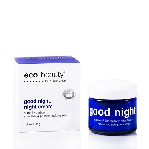 La Fresh Eco-Beauty Moisturizing Night Cream - Natural Face and Neck Moisturizer to Hydrate, Smooth and Revitalize Skin (1.7 oz container)
