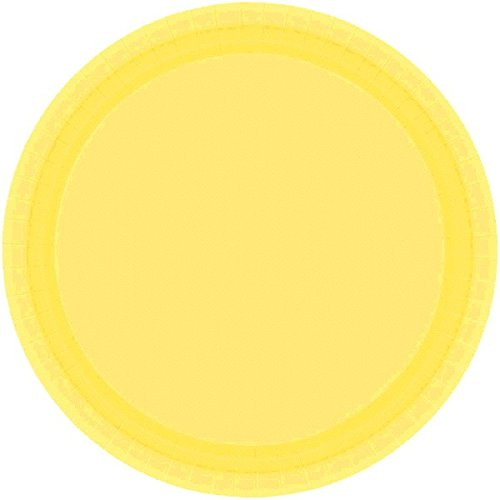 (Amscan 69915.13 Disposable Round Dinner Paper Plates Tablewear Party Supplies, 10.5