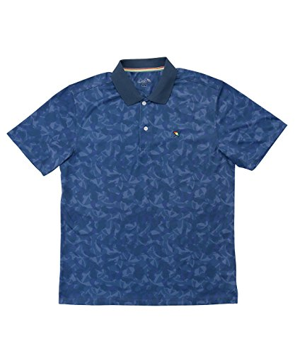アーノルドパーマー メンズ ゴルフ ポロシャツ 半袖 総柄PT半袖ポロ AP220101H07 NV L