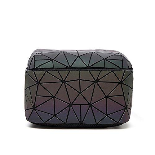 Japonais Rubiks Glitter À Pliant Mat Night Luminous Sac Triangle Dos Rhombus Cube Ladies Géométrique Bandoulière qwOxgvv