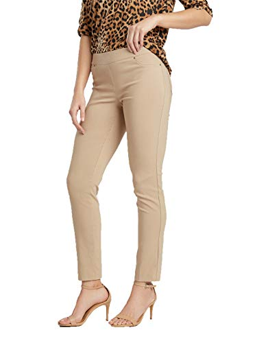 89th + Madison Women's Millennium Pant Khaki - Khaki Ankle Pants
