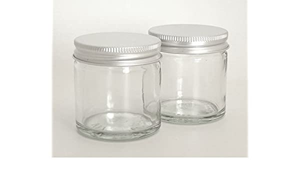 e6a872aed38f Amazon.com: 60ml Clear Glass Cosmetic Jar with EPE lined Aluminium ...