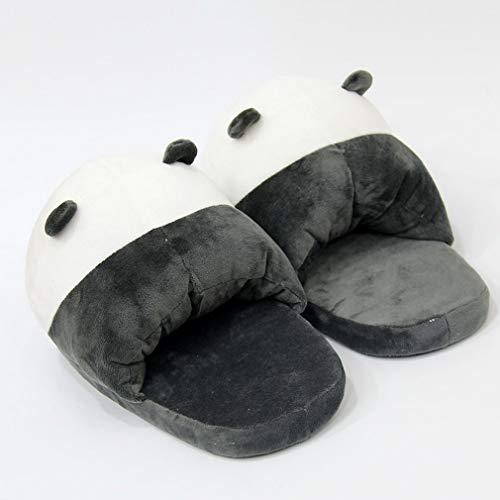 Chaussures Antidérapant De En Coton Automne 43 Unique Forme Vogue Pantoufles Blanc Mignon Panda Et 36 Femme Chambre Taille Noir Chaussons D'hiver Chaud Adulte Souple Cartoon Eu La aUZq7w
