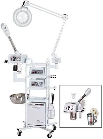 Microdermabrasion Machine and Facial Steamer 11-in-1 T3, Best Selling Multi-use Machine with Diamond Tip on a Rolling Cart - eMark Beauty