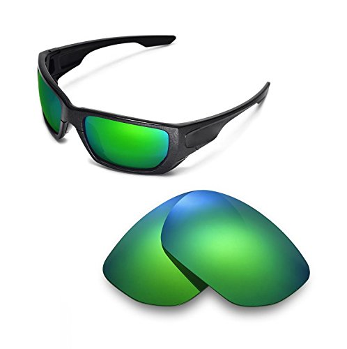 Walleva Replacement Lenses for Oakley Style Switch Sunglasses - 9 Options Available (Emerald Mirror Coated - - Switch Sunglasses Lenses