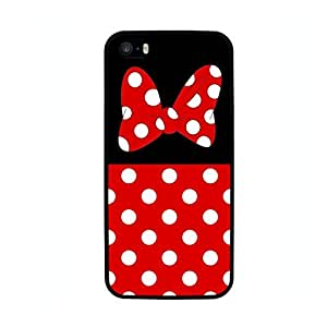 FUNDA CARCASA TPU GEL PARA IPHONE 5 5S MINNIE CON LUNARES BORDE NEGRO
