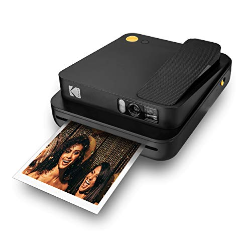 KODAK Smile Classic Digital Instant Camera for 3.5 x 4.25 Zink Photo Paper – Bluetooth, 16MP Pictures (Black)