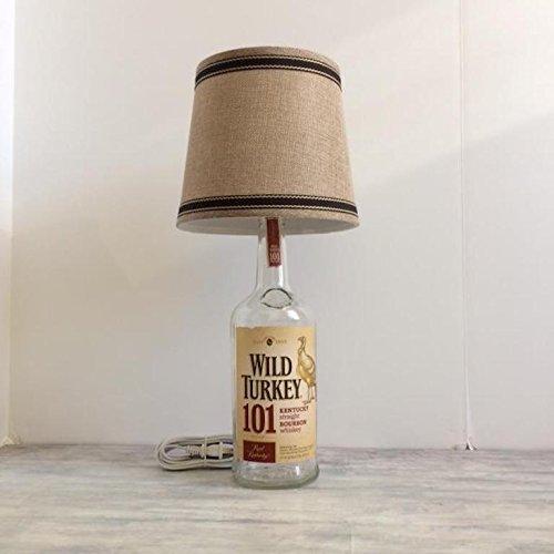 Wild Turkey 101 Lamp, Liquor Bottle Lamps, Bar Lamp, Table Lamp, Man