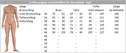 one Lila Gr Abendkleid vers Chiffon Farben Ayla Ballkleid 44 shoulder 34 Bodenlanges Sq1gx1