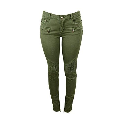 Zip Front Denim Pants - 6