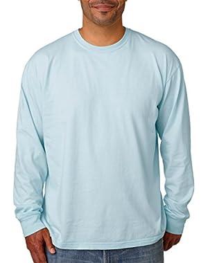 Ringspun Garment-Dyed Long-Sleeve T-Shirt (C6014)- CHAMBRAY, XL