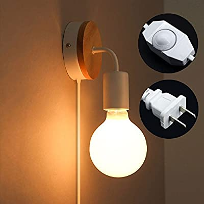 Mininalist Wall Lamp Plug-in with Dimmer Switch