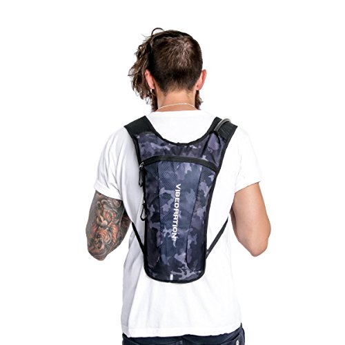 Rave Hydration Pack by Vibedration | 2L Water Capacity | Rave Fashion, Music Festival Gear, Hiking Pack