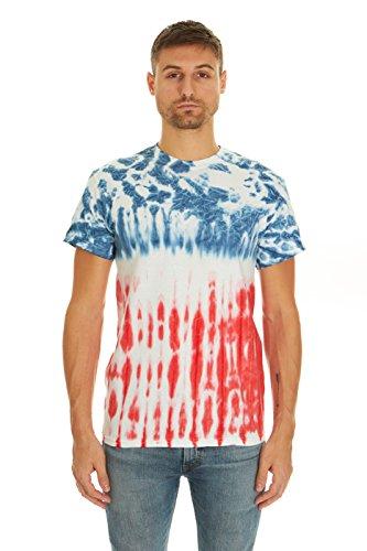 Krazy Tees Tie Dye T-Shirt, Flag, L
