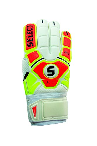 Select Sport America 33 All Round Goalkeeper Gloves with Finger Protection, Yellow/Orange, Size 9