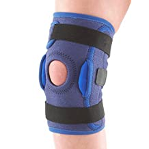 NEO G Kids Hinged Open Knee Support - Medical Grade Quality with side hinges HELPS with symptoms of juvenile arthritis, knee strains, sprains, instability & patellar tracking - ONE SIZE Unisex Support
