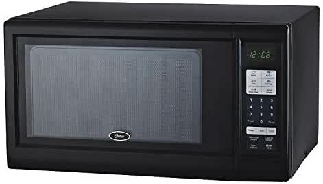 OSTER OGM41102 1.1 Cube Microwave Oven, Black