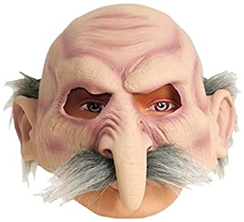 Máscara de Viejo con pelo gris